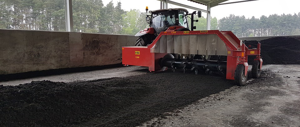 Sewage Sludge Composting Machine Compost
